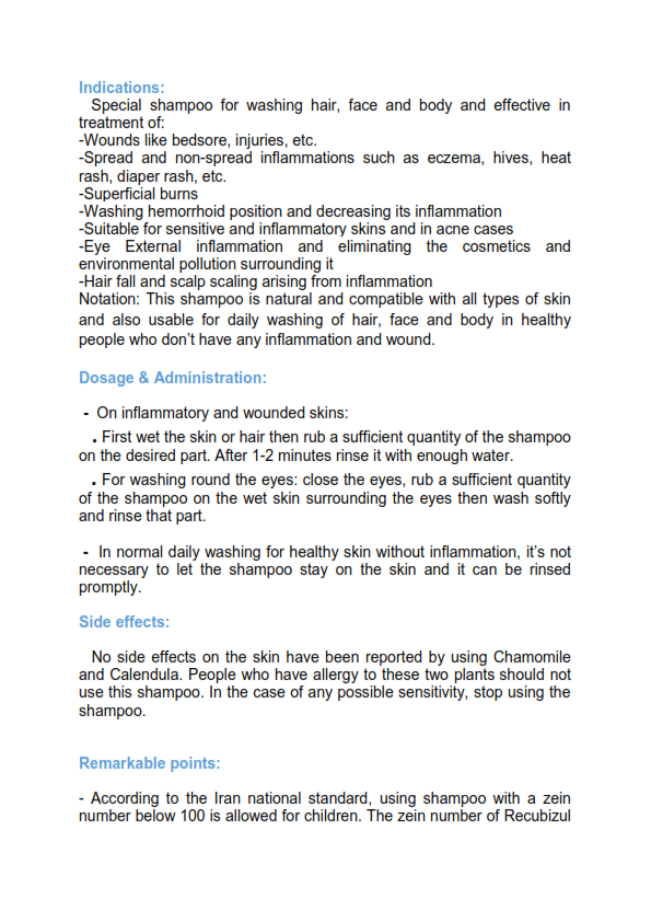 بروشور تخصصی شامپو رکوبیزول 2